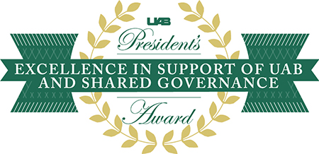 Excellence in Support of UAB and Shared Governance