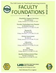 Faculty Foundations Flyer