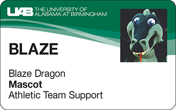 UAB ONE Card for Blaze Dragon, Mascot