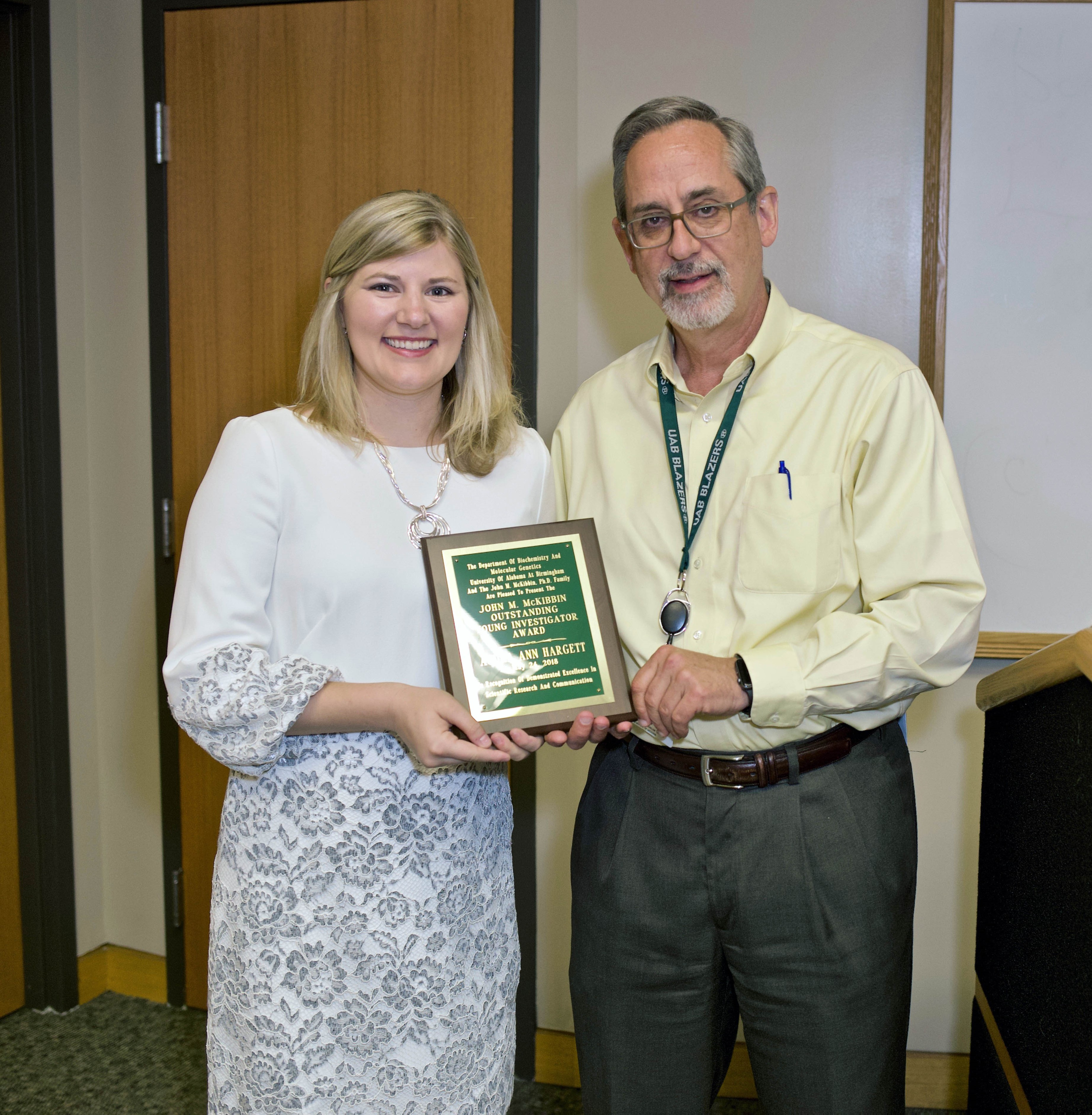 Audra Ann Hargett Named McKibbin Outstanding Young Investigator