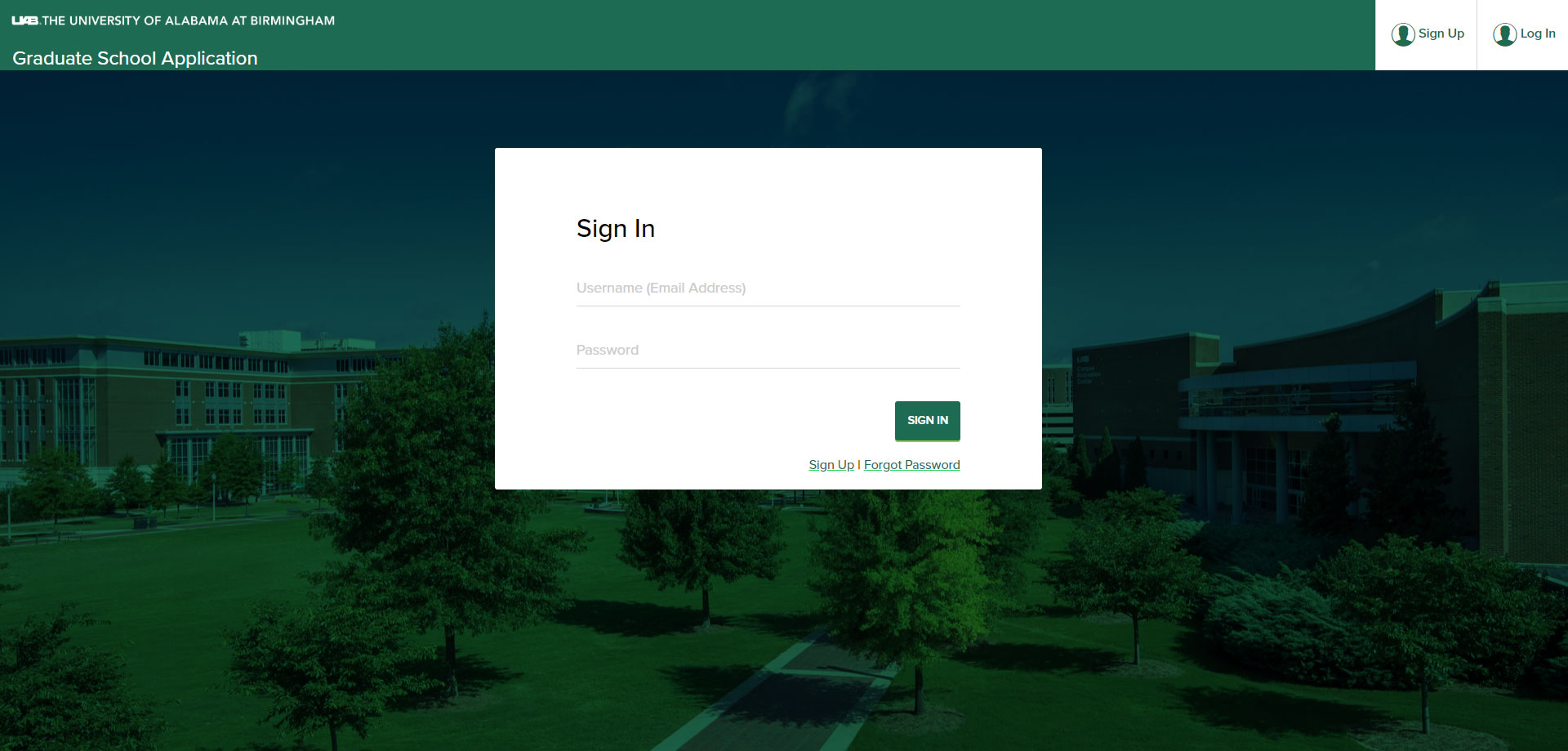 Application Portal Sign In