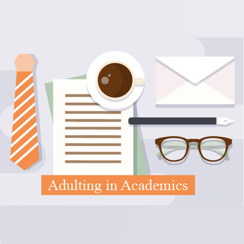 Adulting in Academics Logo