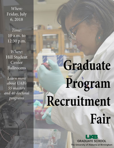 graduate summer recruitment fair poster.