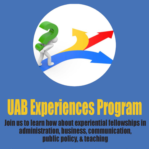 UAB Experiences Program flyer.