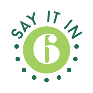 Say It In 6 logo