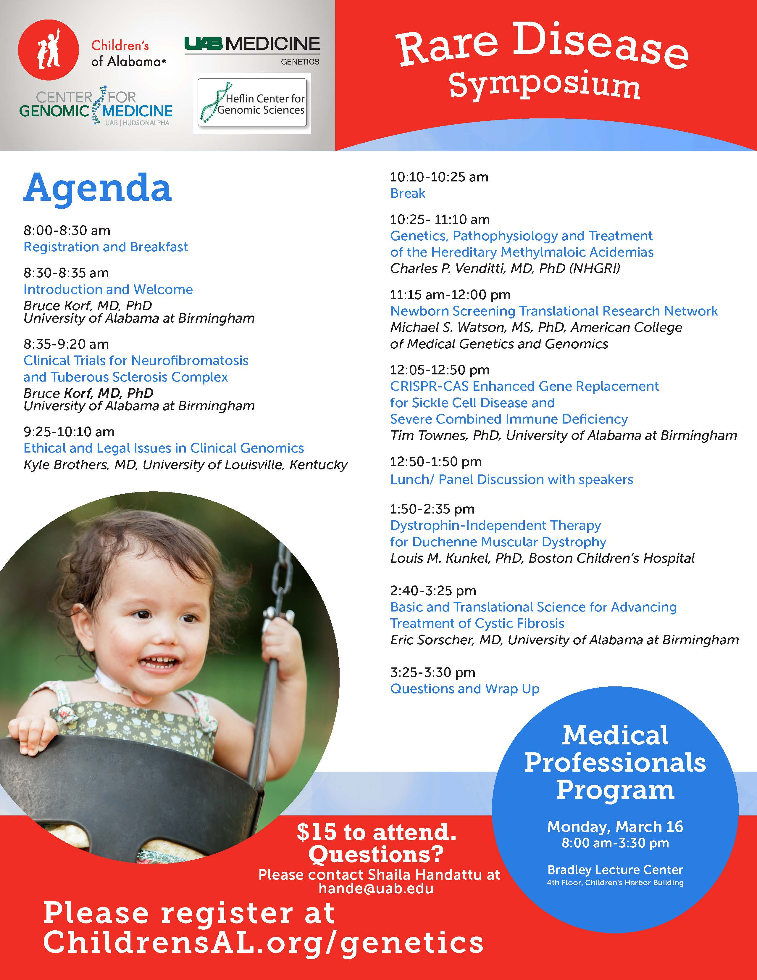 Flyer Rare Disease Symposium 2015 Page 1