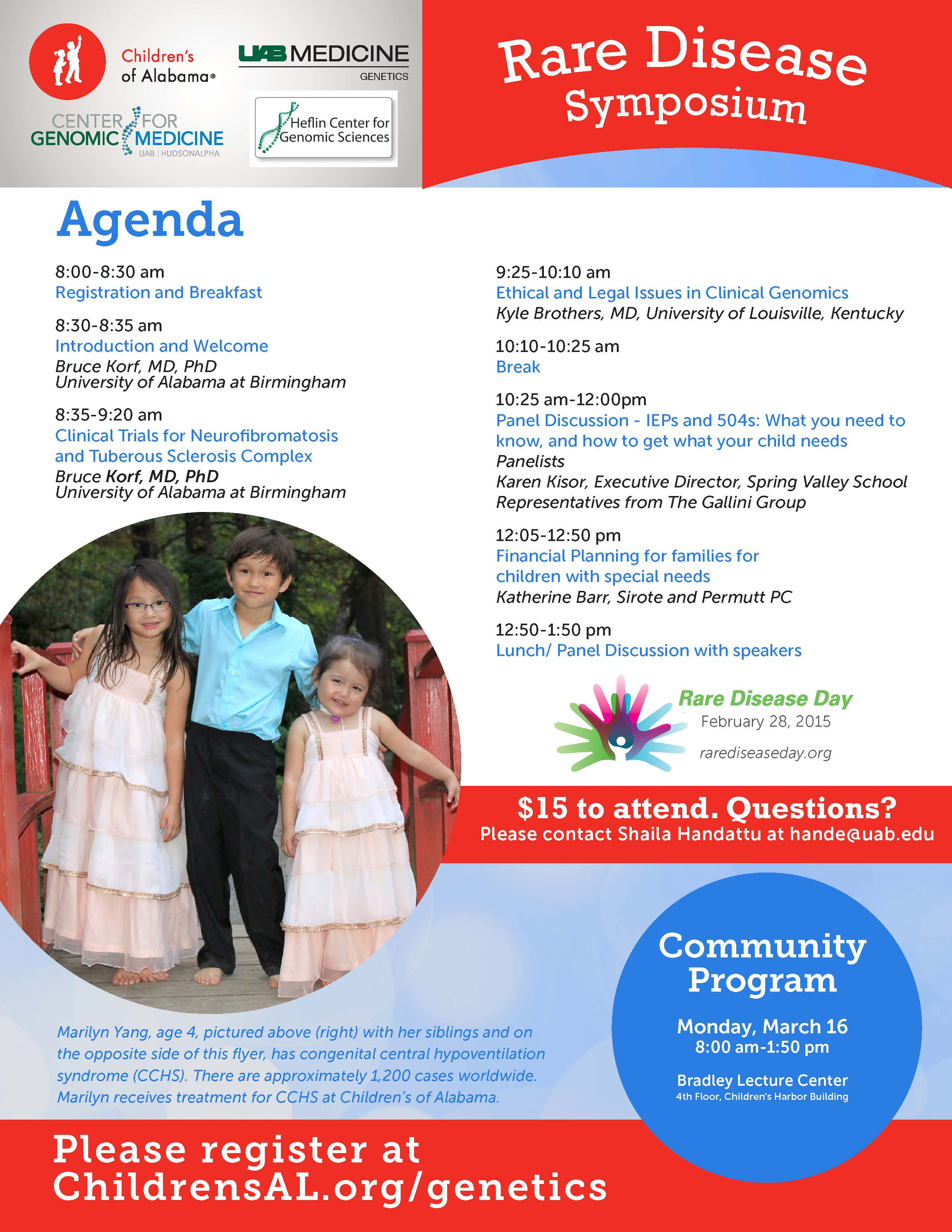 Flyer Rare Disease Symposium 2015 Page 2