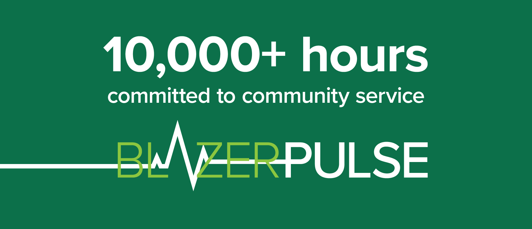UAB's BlazerPulse reaches milestone of 10,000 hours committed to community service