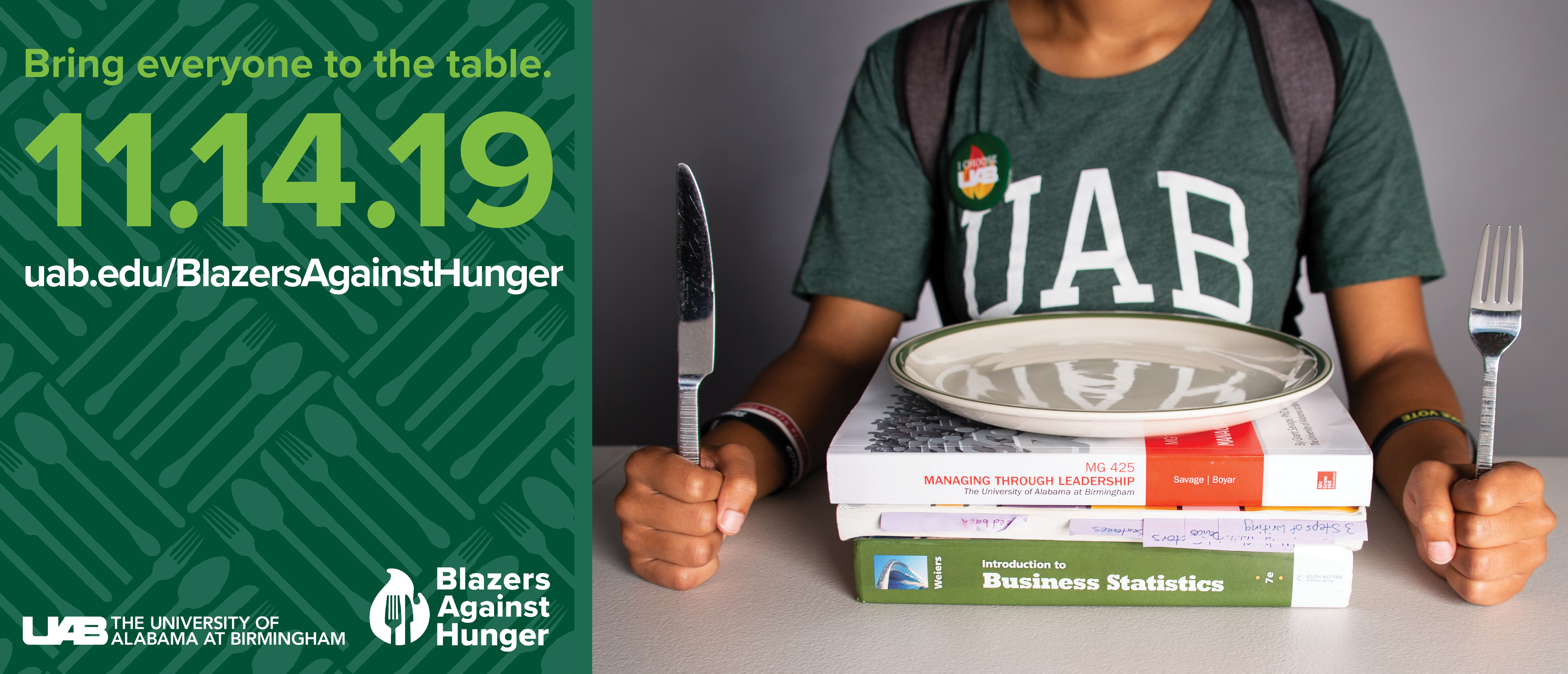 Bring everyone to the table. Blazers Against Hunger