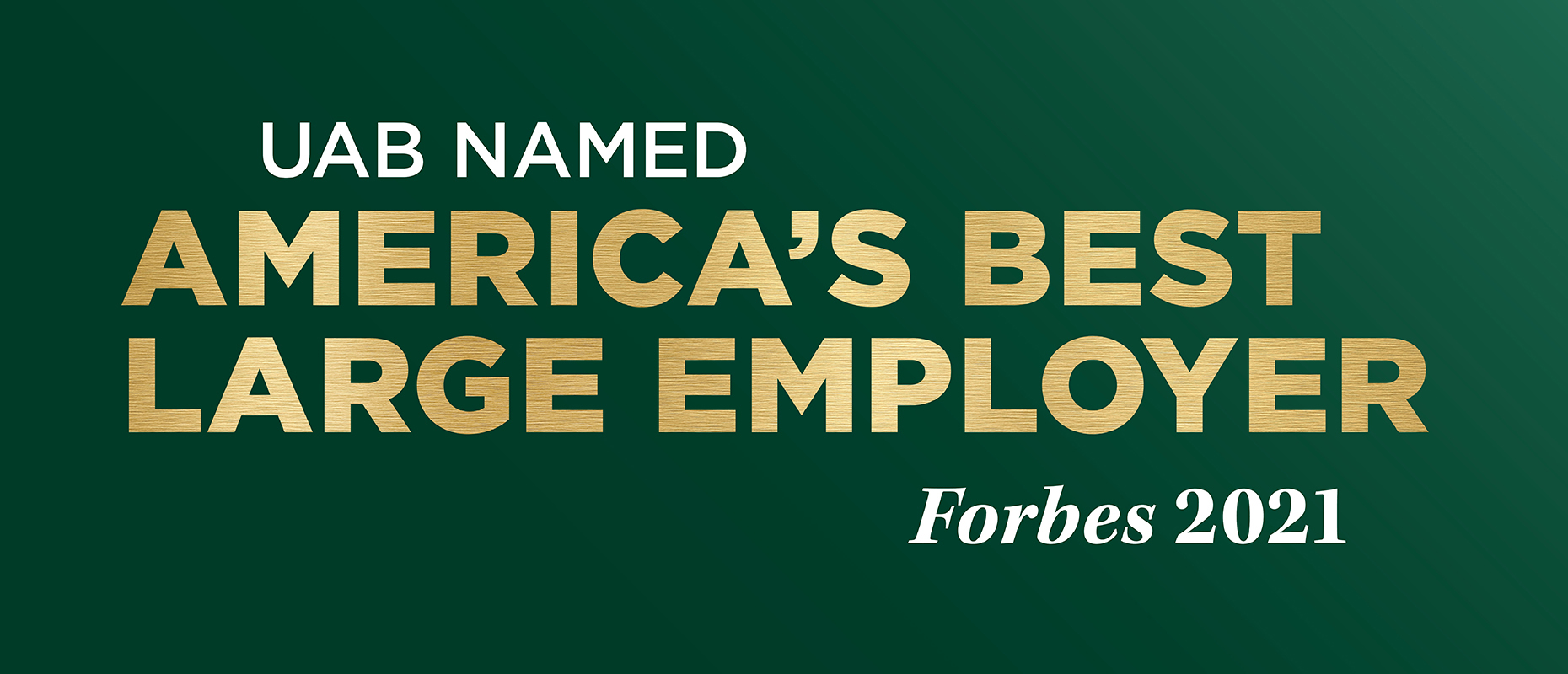 UAB named America's Best Large Employer by Forbes