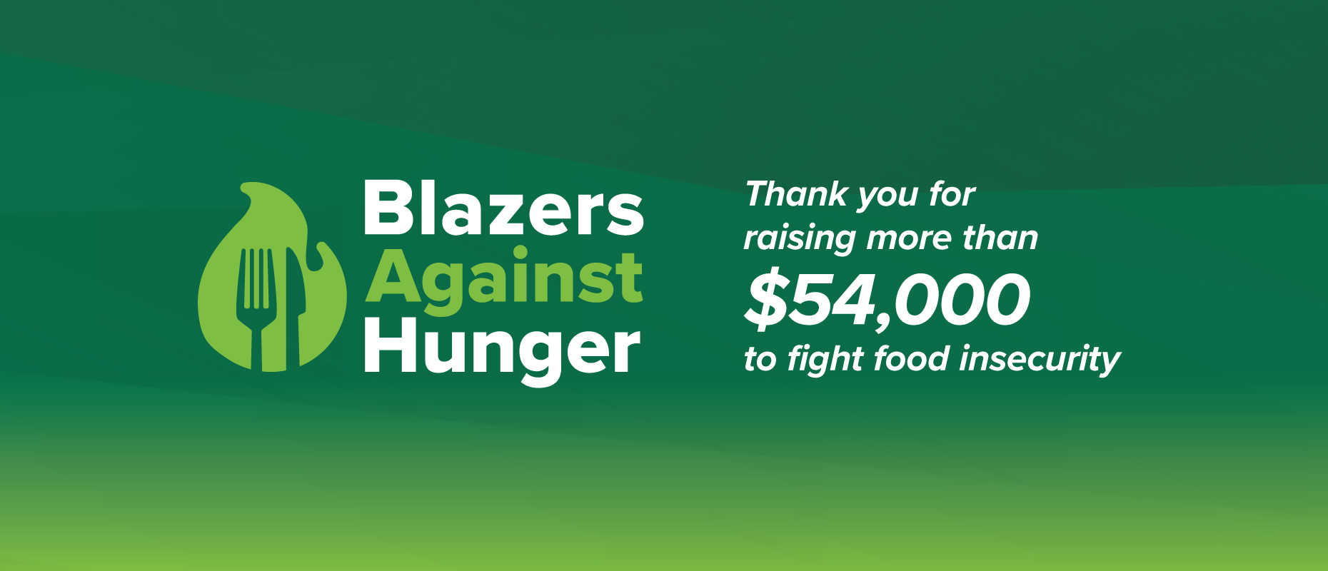 Blazers Against Hunger: Thank You