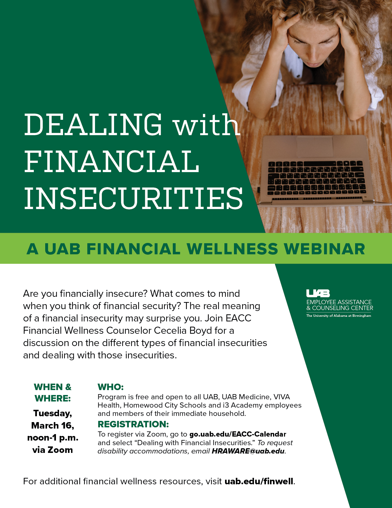 Dealing with Financial Insecurities