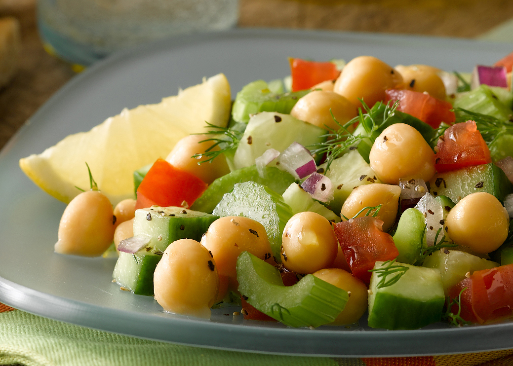 Cucumber & Chickpea Salad