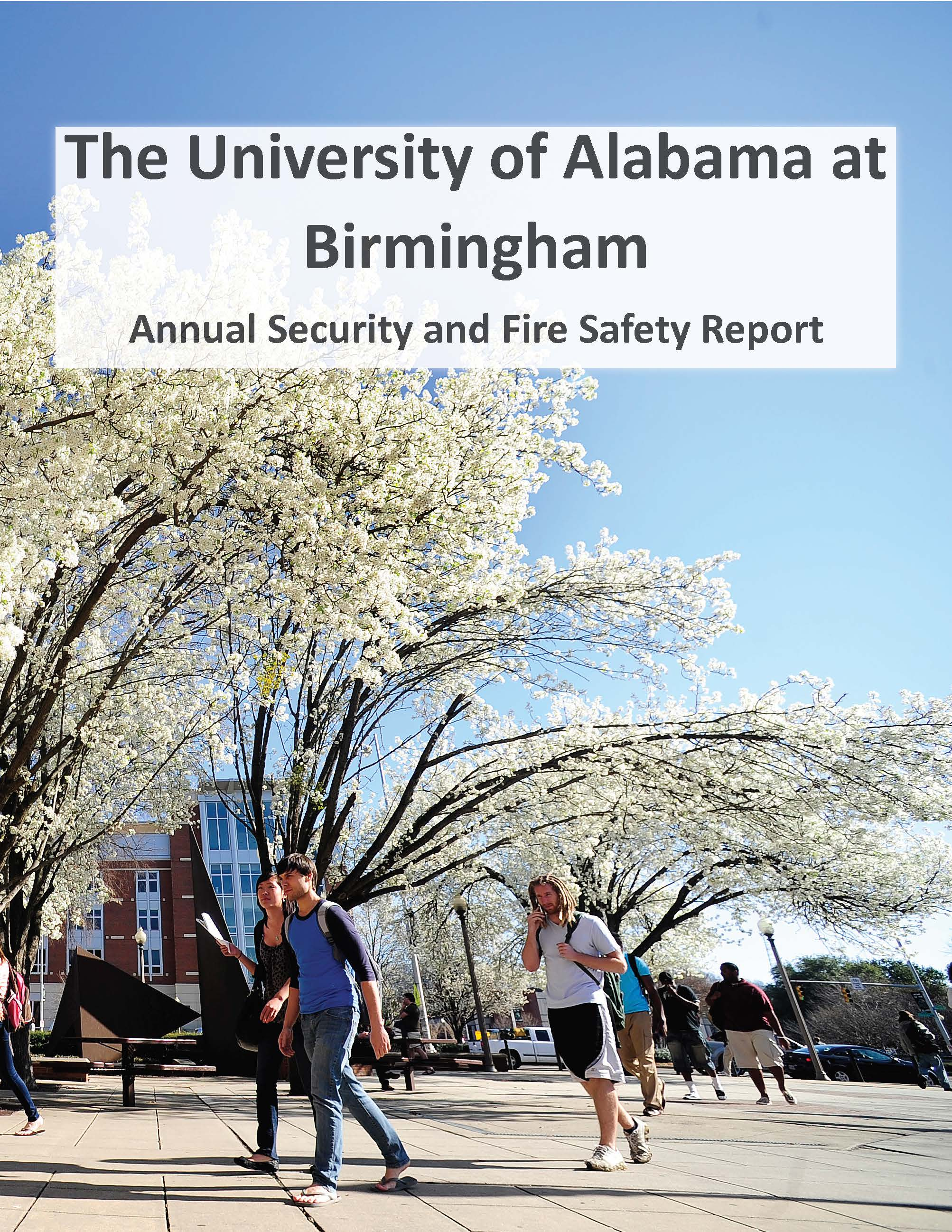 2017 UAB Annual Security and Fire Safety Clery Report COVER