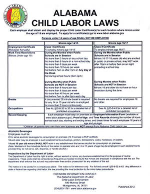 Alabama Child Labor Laws