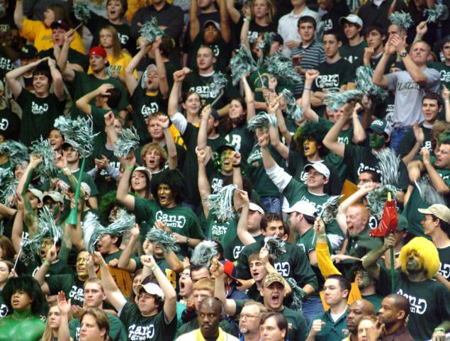 Photo of UAB fans at Bartow Arena