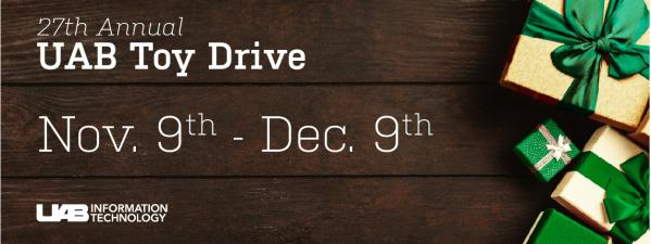 UAB Toy Drive offers virtual option this year