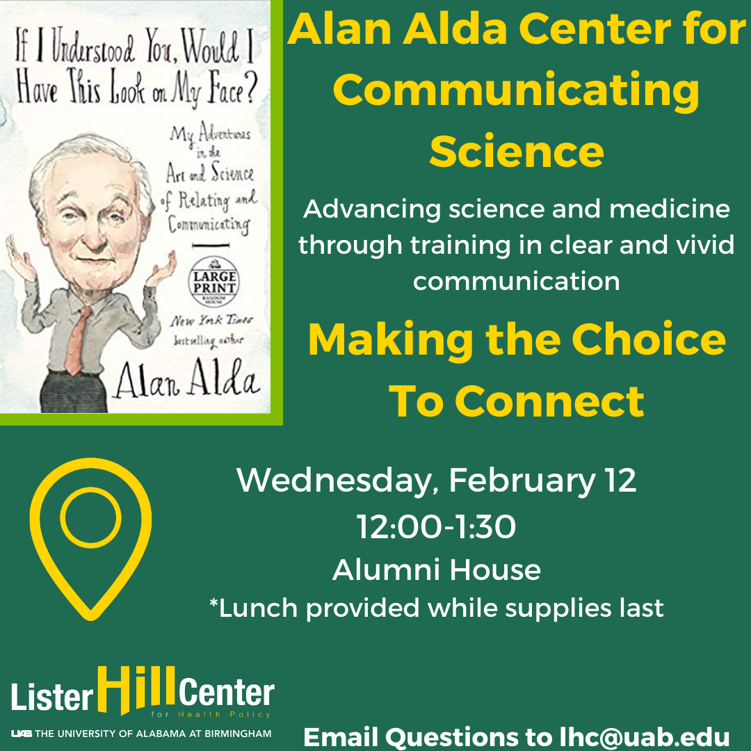 February 12: Alan Alda Center for Communicating Science