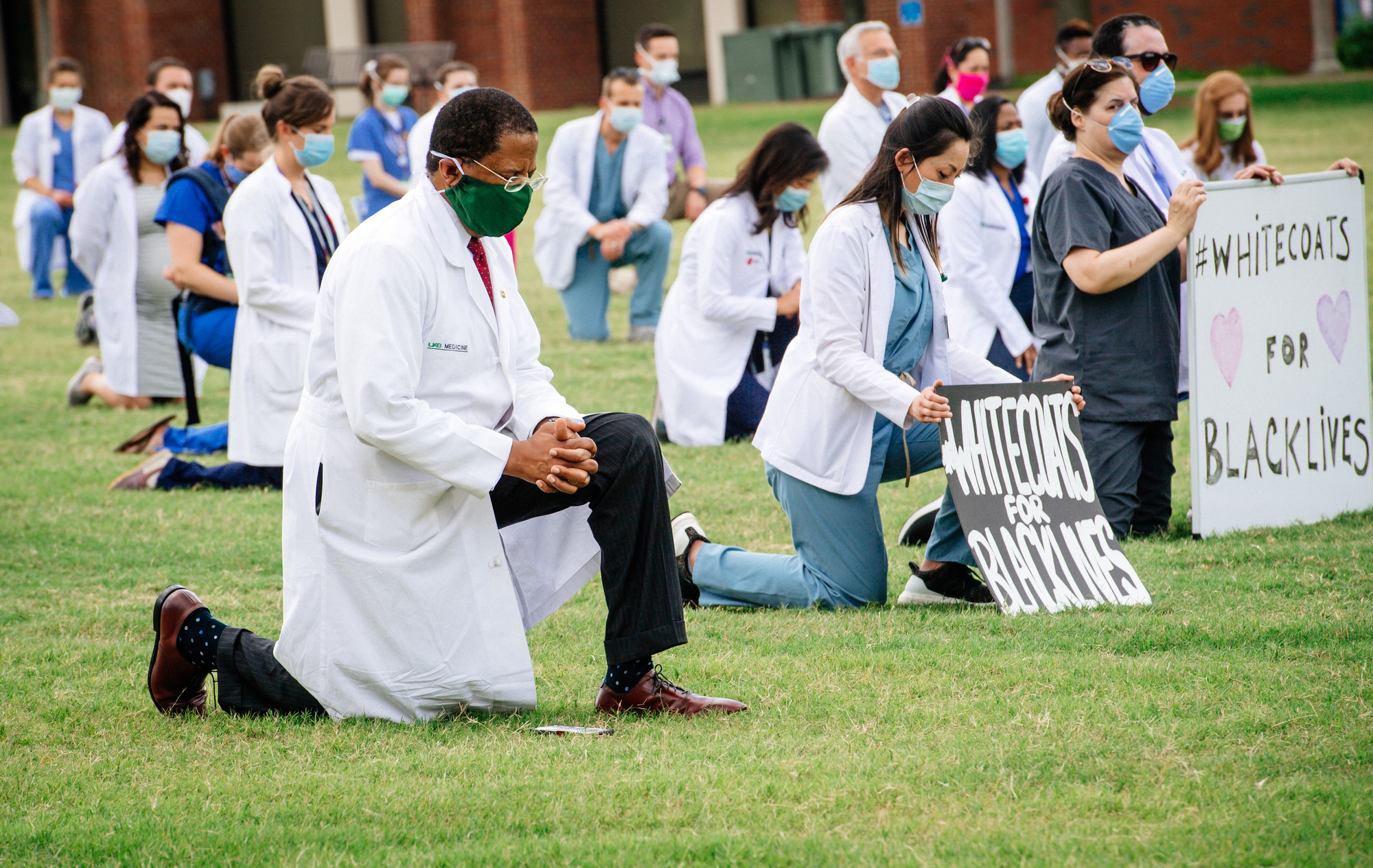 Whitecoats for Black lives