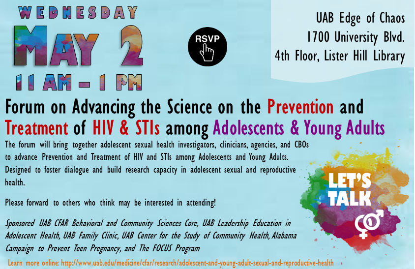 Adolescent Sexual and Reproductive Health Forum SAVE THE DATE