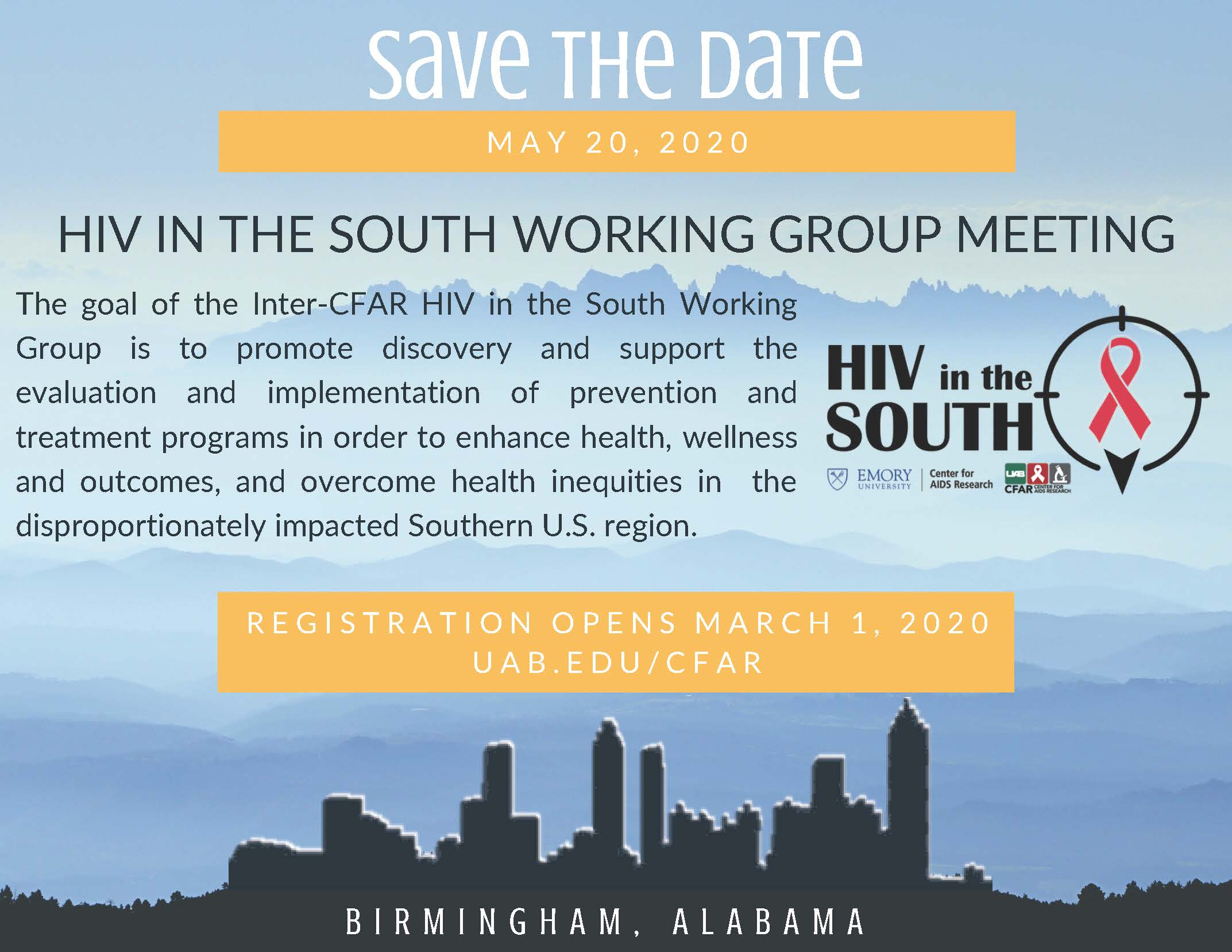 HIV in the South Save the Date