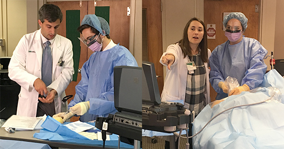 First-Year Residents Practice Placing Central Venous Lines