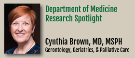 Research Spotlight Cynthia Brown MD