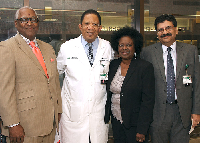 Michael Bell, Selwyn Vickers, MD, Sharon Lewis, and Ravi Bhatia, MD