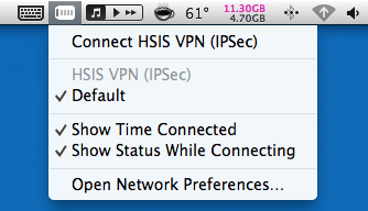 VPN dropdown