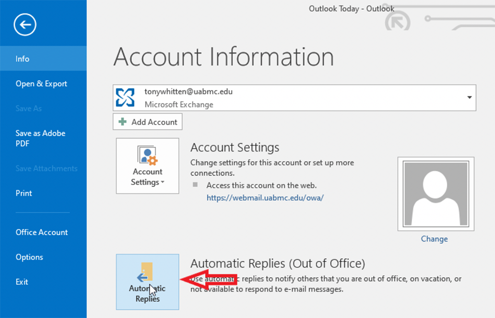 Automatic Replies in Outlook