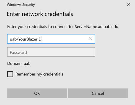 User credentials for mapped drive