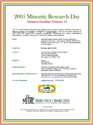 2005: Minority Research Day