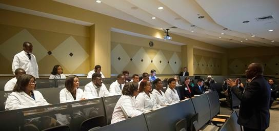 ASU UAB Cancer Partnership Students in white coats 2