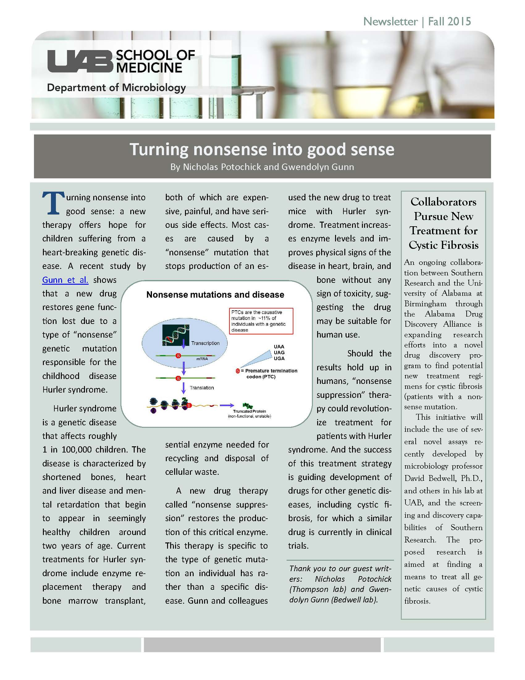 Fall 2015 Microbiology Newsletter Page 01