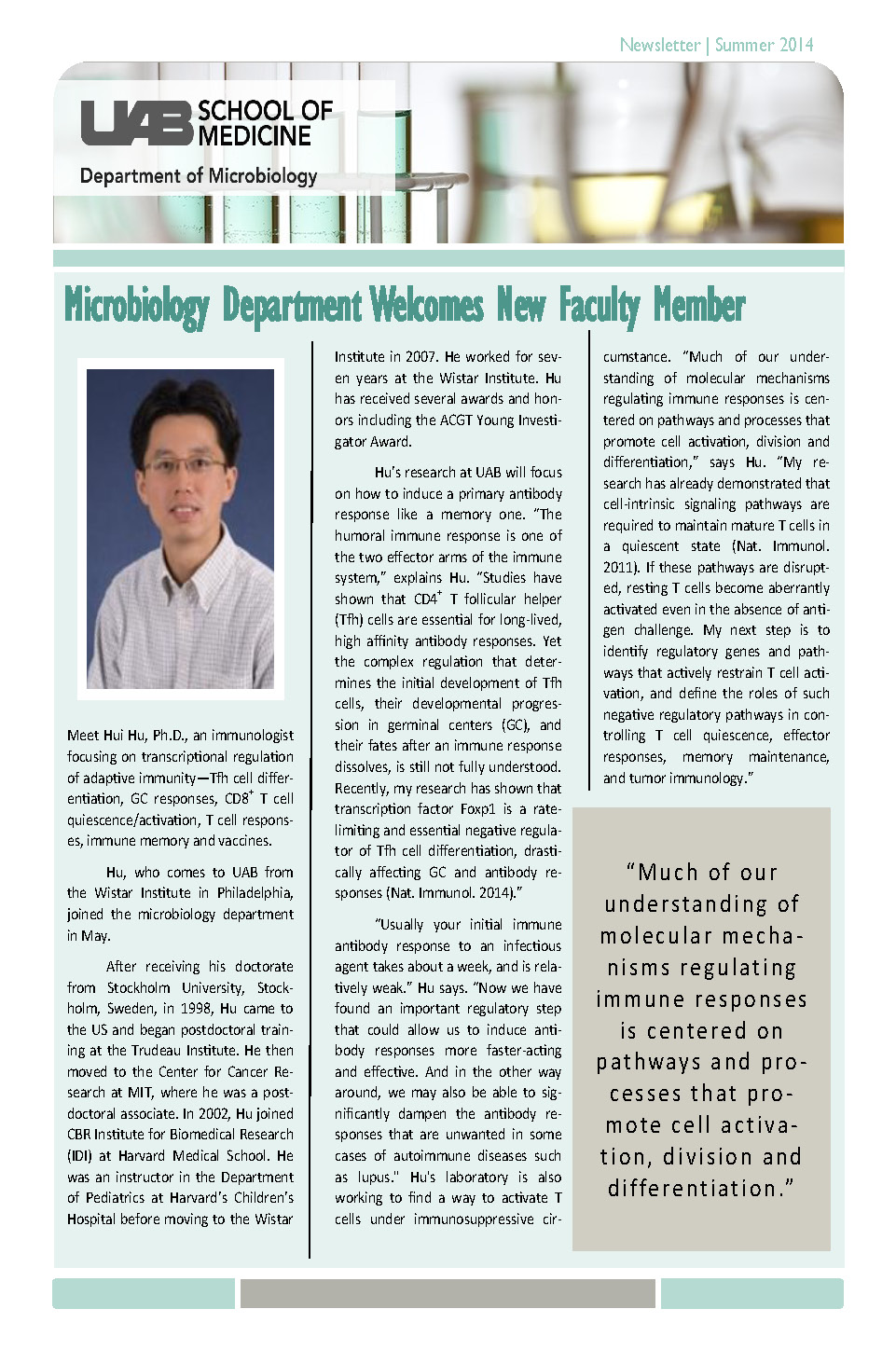 Micro Newsletter Summer 2014 Page 1