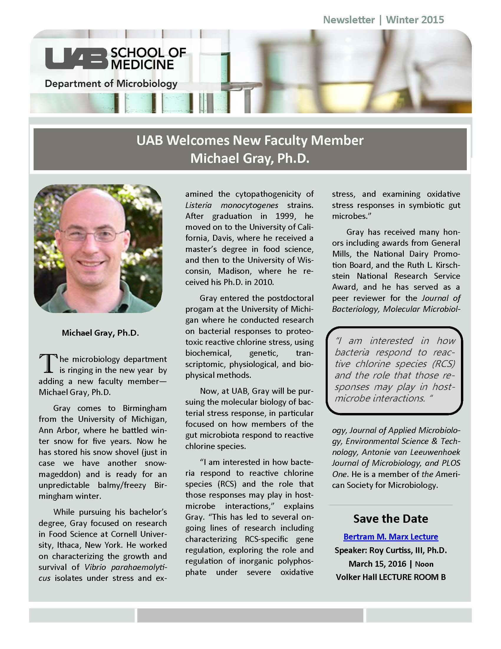 Winter 2015 Microbiology Newsletter Page 01