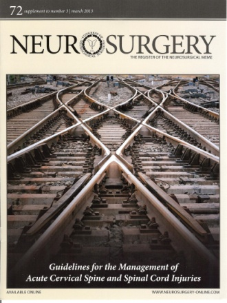 Neurosurgery book cover with traintrachs