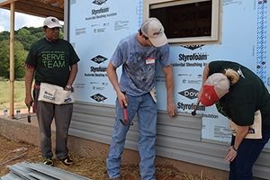 SOM employees volunteer with Habitat for Humanity