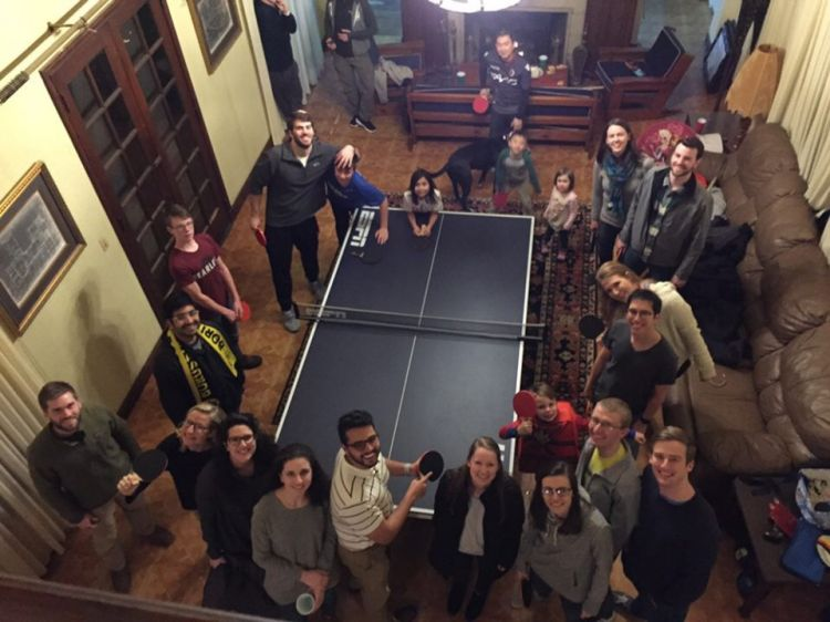Hamilton LC ping pong tournament at their LC mentor's home