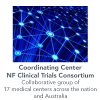 Graphic illustrating UAB is the coordinating center for the NF Clinical Trials Consortium