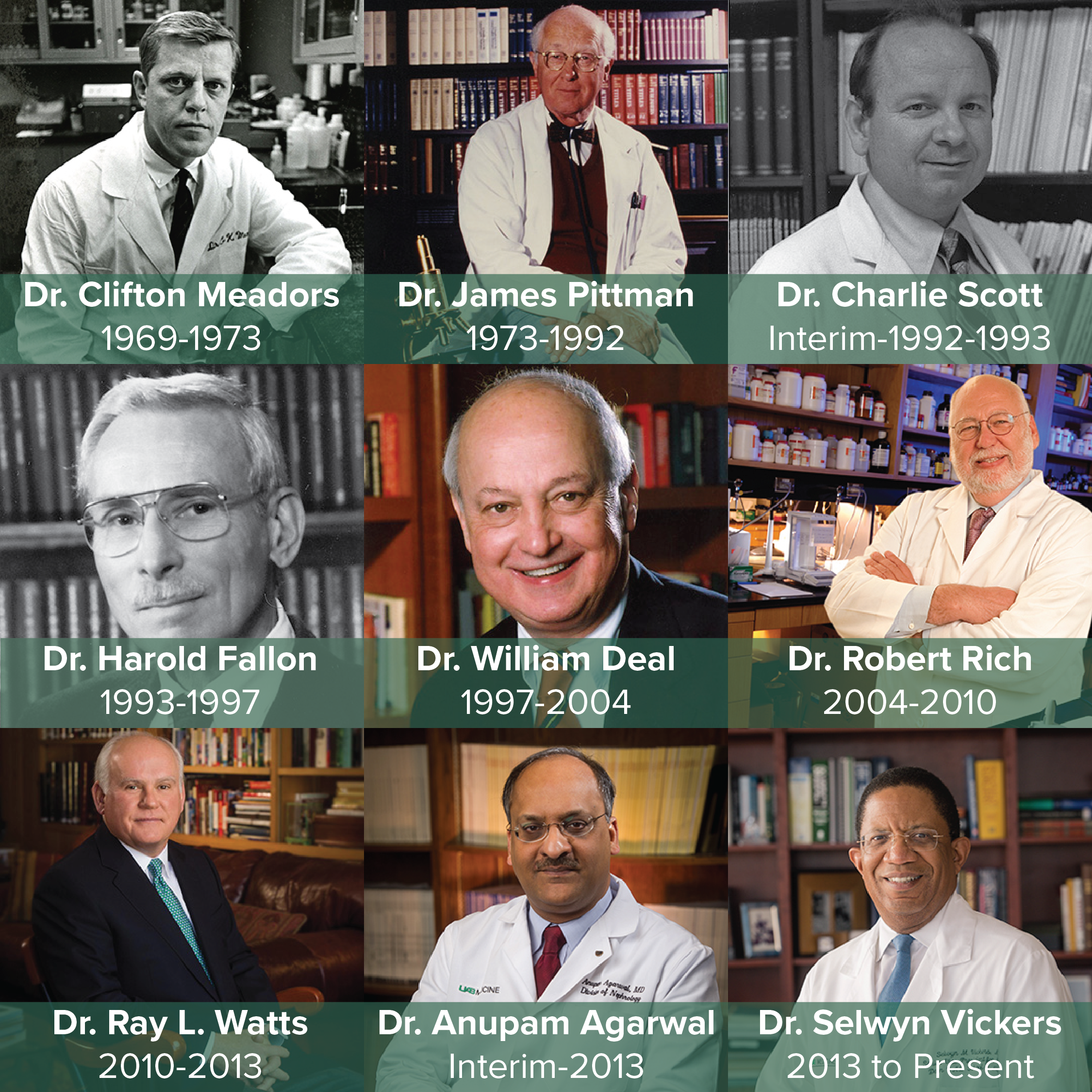 Deans of the University of Alabama School of Medicine- 1969–Present
