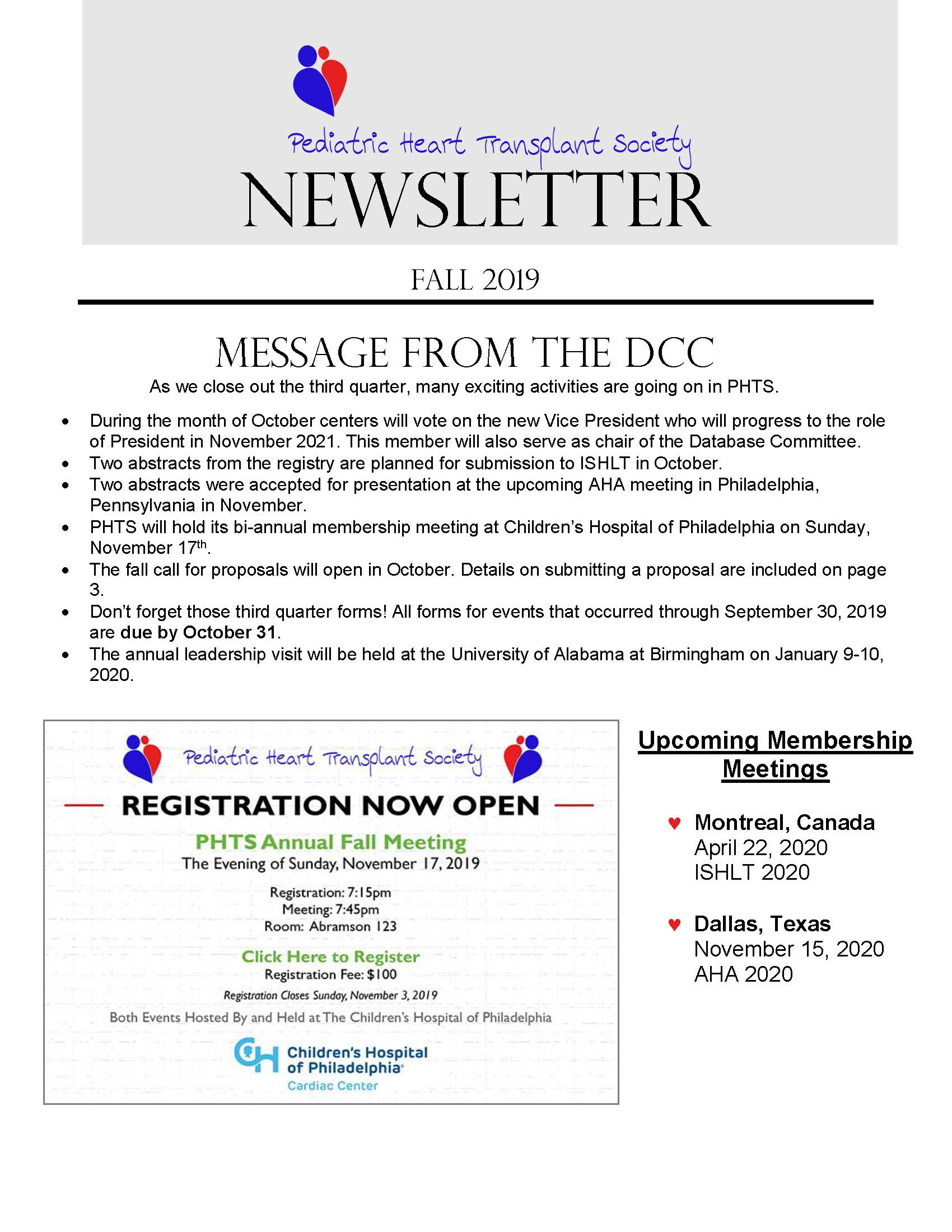 Summer Newsletter 2019 Page 1