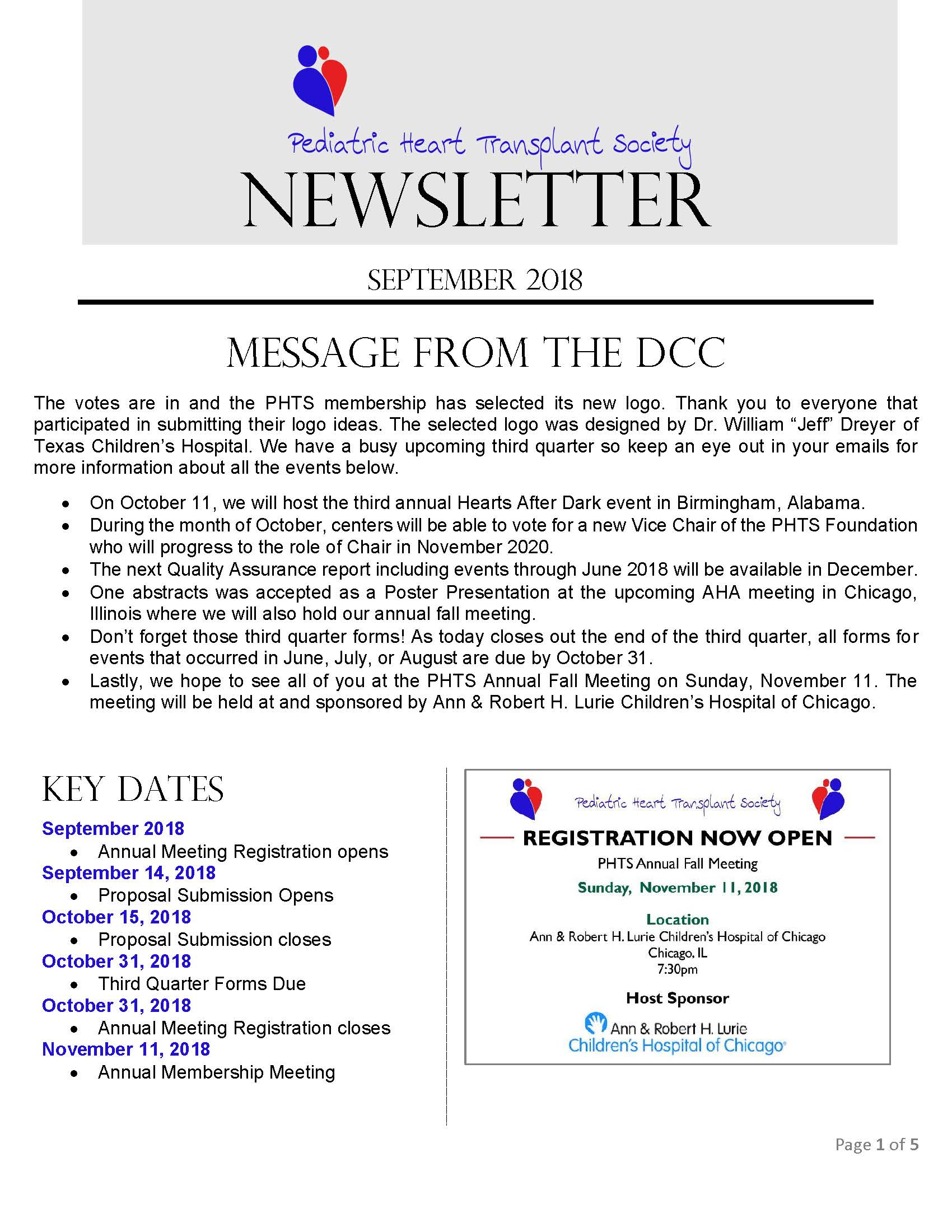 Fall Newsletter Page 1