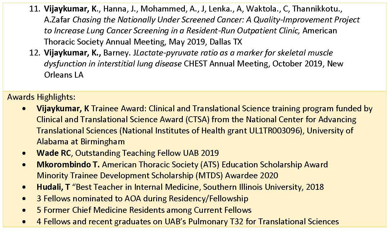 Highlights of Recent Fellows Accomplishments1 Page 3