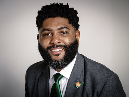 Head shot of Dr. Anthony Hood, PhD (Associate Professor, Management, Information Systems, and Quantitative Methods; Director of Civic Innovation, Office of the President), 2019.