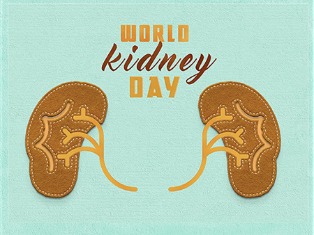 Festive concept for the World Kidney Day
