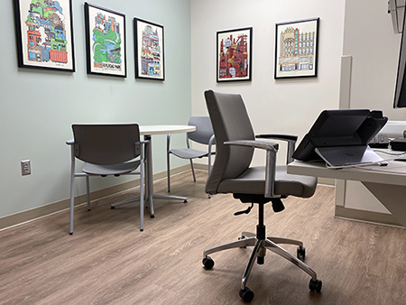 Telehealth room   - blessinginside - UAB's Supportive Care Clinic showcases new clinic space in virtual tour – News