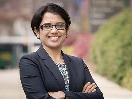 Environmental head shot of Dr. Samiksha Raut, PhD (Assistant Professor, Biology), 2018.
