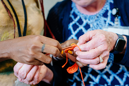 Knitting and crocheting group sparks joy, comfort in RNICU families' lives
