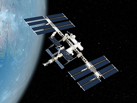 International Space Station (ISS), computer artwork.